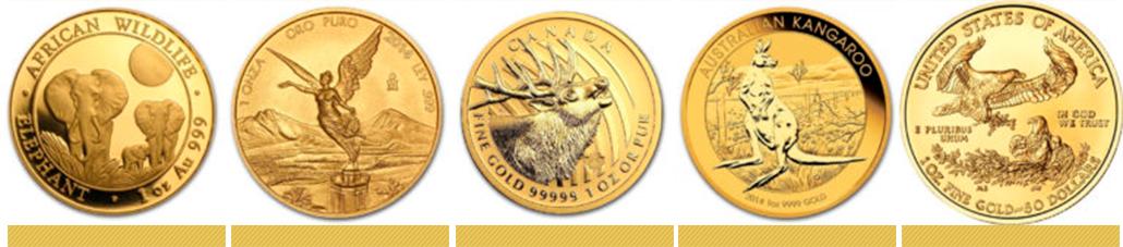 Золотые инвестиционные монеты разных стран мира - KDG Gold